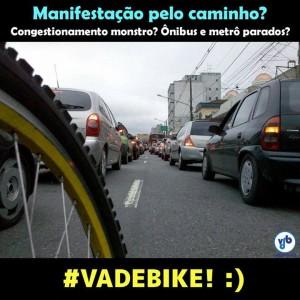 Se tem protesto va de bike
