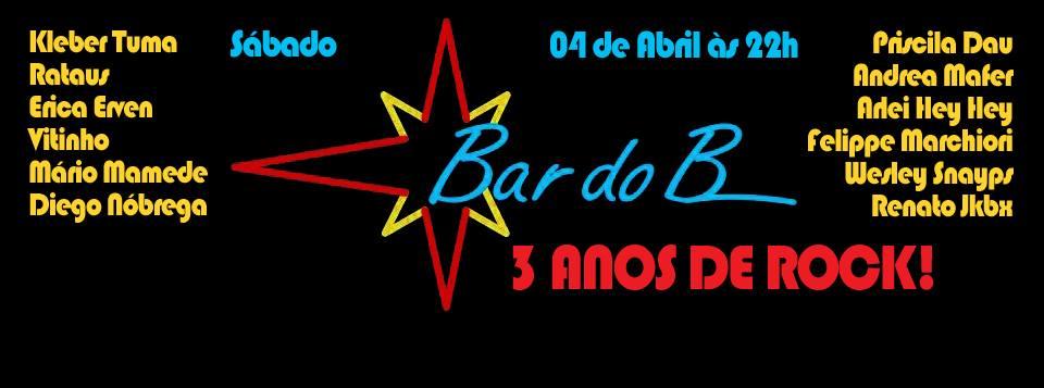 4 abril aniversario do Bar do B