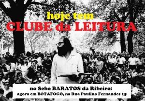 Clube da Leitura flyer com Allen Ginsberg