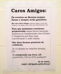 Campanha cartaz no banheiro