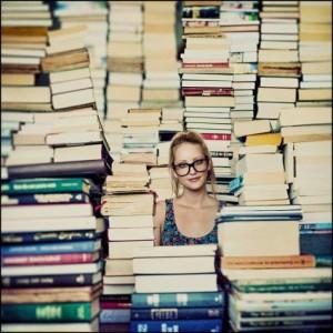 No meio dos livros