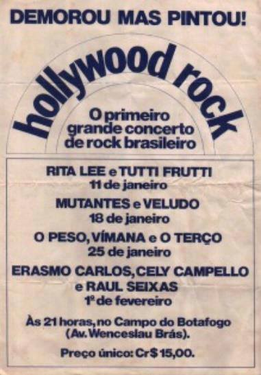 1 Poster primeiro Hollywood Rock